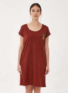 Slub-Jersey-Kleid aus Bio-Baumwolle mit Stickerei - ORGANICATION