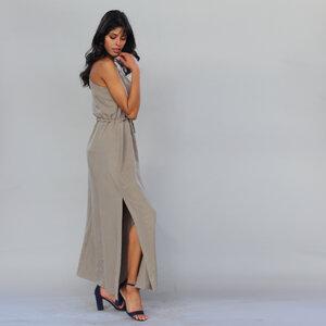 Langes Trägerkleid Tharea aus Tencel - ManduTrap