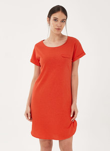 Jerseykleid aus Bio-Baumwolle mit Leinen - ORGANICATION