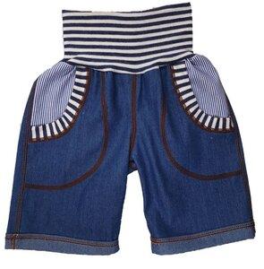 Bermudashorts Jeans mittelblau mit Taschen  - Omilich