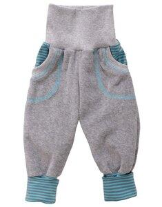 Baby-Mitwachs-Hose Nicky grau - Einzelstück Gr. 68 - Omilich