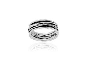 Ring Silber schmale Wellen elegant handmade sustainable Fair-Trade - pakilia