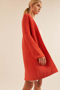 Strickmantel aus Bio-Baumwolle GOTS - LANIUS