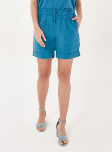 Paperbag-Shorts aus Tencel mit Kordelzug - ORGANICATION