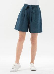 Shorts aus Leinengemisch mit Bindegürtel - ORGANICATION