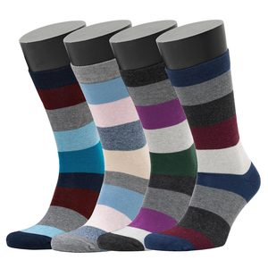 4er Set Multi Colour Stripe Pattern Socks 41-46 - Opi & Max