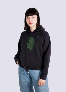 Damen Hoodie Strand Palme aus Bio-Baumwolle - vis wear