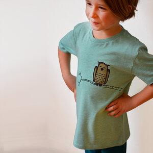 Kinder T-Shirt Zweigeule grün  - Cmig