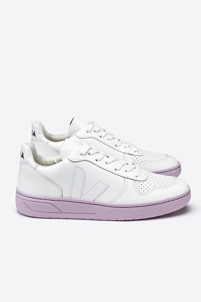 """Veja V10 Leather W """"Extra White Lilas Sole"""""""