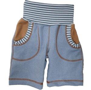 Bermudashorts Jeans hellblau mit Taschen  - Omilich