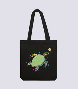 Jutebeutel Schildkröte aus recycelte Baumwolle - vis wear