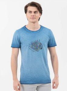 Garment Dyed T-Shirt aus Bio-Baumwolle mit Rubik's Cube-Print - ORGANICATION