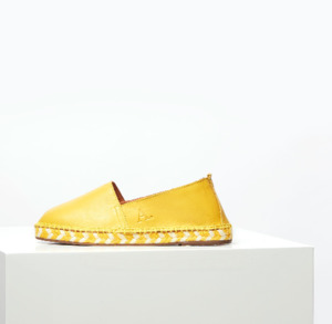 Arven Mixed Sole leather Espadrilles Yellow - Act.