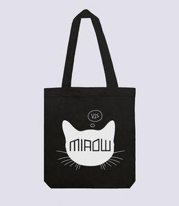 Jutebeutel Katze aus recycelte Baumwolle - vis wear