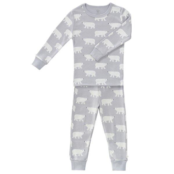 Fresk 2teiliger Schlafanzug Polar Bär 100 % Kba Baumwolle