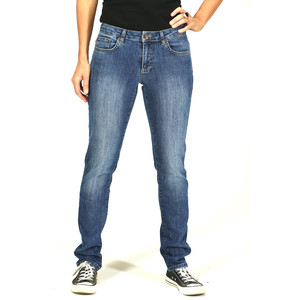 Regular Slim Fit – mittelblaue Damen-Jeans - TORLAND