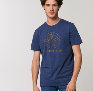 Bio-Baumwolle T-Shirt / Wanderlust - Kultgut