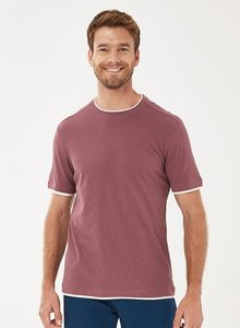 T-Shirt aus Bio-Baumwolle mit Leinen - ORGANICATION