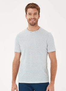 Gestreiftes T-Shirt aus Bio-Baumwolle mit Leinen - ORGANICATION