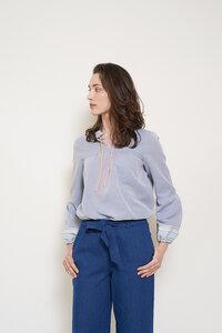 besticktes Bluse Lobelia aus Bio-Baumwolle - ME&MAY