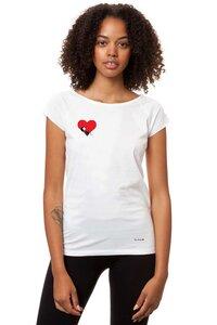Damen T-Shirt Valentine Girl Weiß Bio Fair - FellHerz