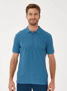 Poloshirt aus Bio-Baumwolle mit Allover-Print - ORGANICATION
