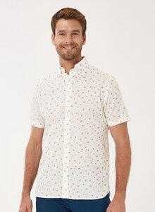 Kurzarm-Hemd aus Bio-Baumwolle mit Allover-Print - ORGANICATION