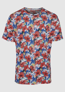 T-Shirt All Over Print Flowers - KnowledgeCotton Apparel