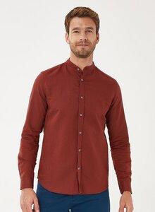 Langarm-Hemd aus Leinen mit Bio-Baumwolle - ORGANICATION