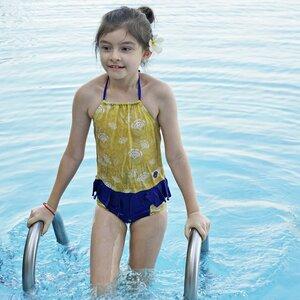 Nachhaltiges Badeoberteil für Mädchen UPF50+ Kemuning - Kerang Swimwear