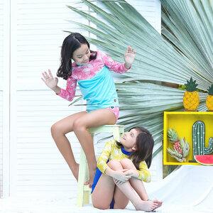 Nachhaltiges Badeshirt für Mädchen UPF50+ Kemuning - Kerang Swimwear
