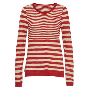 PULLOVER ISAURA stripes rot/offwhite - KARINFRAIDENRAIJ