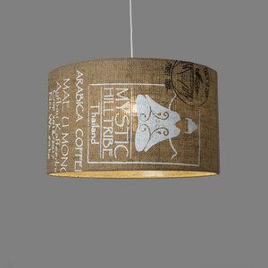 Deckenleuchte Perlbohne N°60 aus Kaffeesack - lumbono