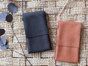 """Kleine Eco-Leder Handy Umhängetasche """"Minatou"""" 2 Größen // 2 Farben - pikfine"""