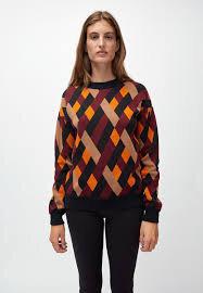 PEETJAA RHOMBS - Damen Pullover aus Bio-Baumwolle - ARMEDANGELS