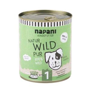Dosenfutter f. Hunde, Wild pur - napani