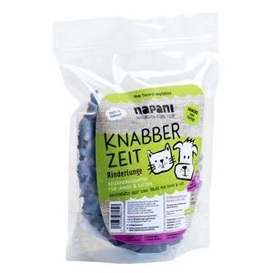 Knabber Zeit - Rinderlunge getrocknet, f. Hunde & Katzen - napani