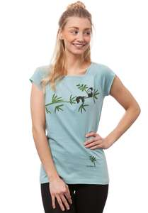Damen T-Shirt Faultier Bio Fair - FellHerz