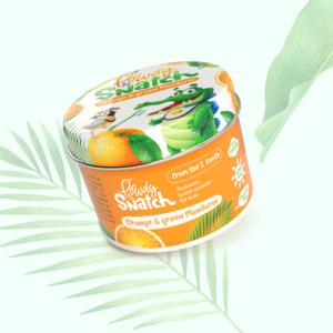 """Probiotisches Kinderzahnpulver """"Orange und grüne Mandarine"""" ab dem 1. Zahn, 50 Gramm - Powdy & Snatch"""