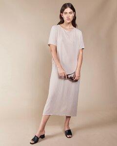 Midi-Kleid IRIS MIDI in sand striped - JAN N JUNE