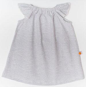 """Hängerkleidchen aus Bio-Baumwolle """"Baby Basic Dotted Lines"""" Grau/Weiß - Cheeky Apple"""