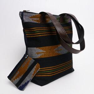 HH Shopper/Tasche aus Dhaka-Stoffen von Himal Hemp - Himal Hemp