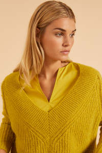 Lanius - Pullover mit V-Ausschnitt aus Alpaka-Wolle - LANIUS