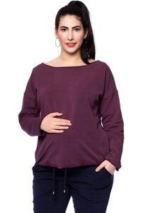 GADI Lässiges Umstands-und Stillsweatshirt aus softem Bio Sweat (Uni) - Milchshake