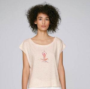 Feine Bio- Baumwolle Oversize Shirt im Boho Style / Yoga - Kultgut