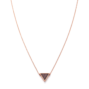 Halskette mit Holzelement 'TRIANGLE NECKLACE' - Kerbholz