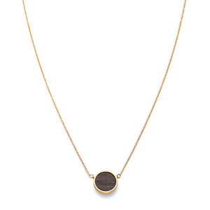 Halskette mit Holzelement 'CIRCLE NECKLACE' - Kerbholz