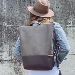 Rucksack aus Lederfaserstoff  - BOWLEANIES TASCHEN