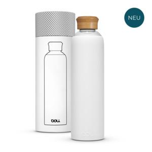 Trinkflasche aus Glas 1L mit Schutzhülle, BPA-frei ohne Schadstoffe - Doli