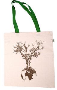 Tasche aus Biobaumwolle Fairwear für in Grün/Blau/Burgund/Rot - Life-Tree